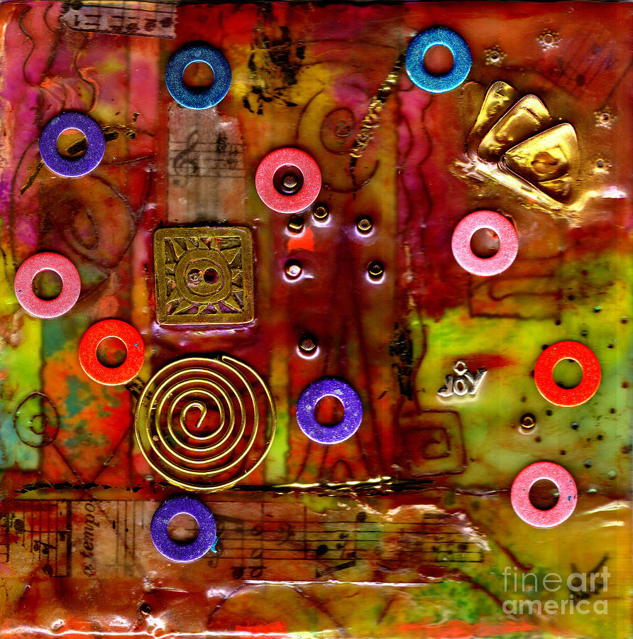 Gretting Cards Mixed Media - Happy Music by Angela L Walker