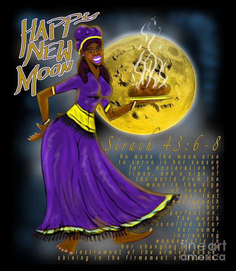 Israelite Painting - Happy New Moon Sirach 43 by Robert Watson