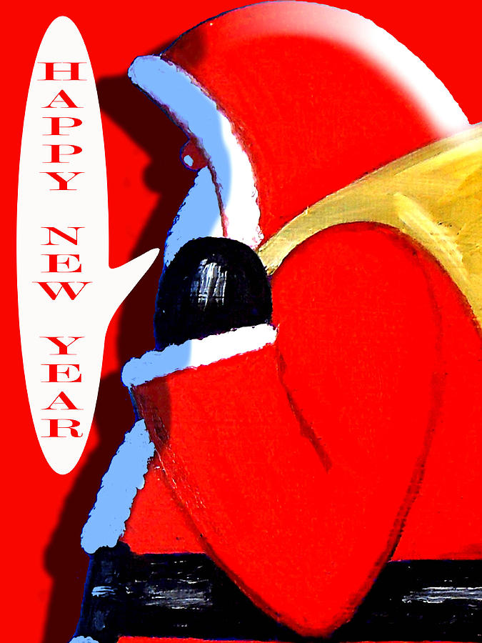 Christmas Painting - Happy New Year 4 by Patrick J Murphy