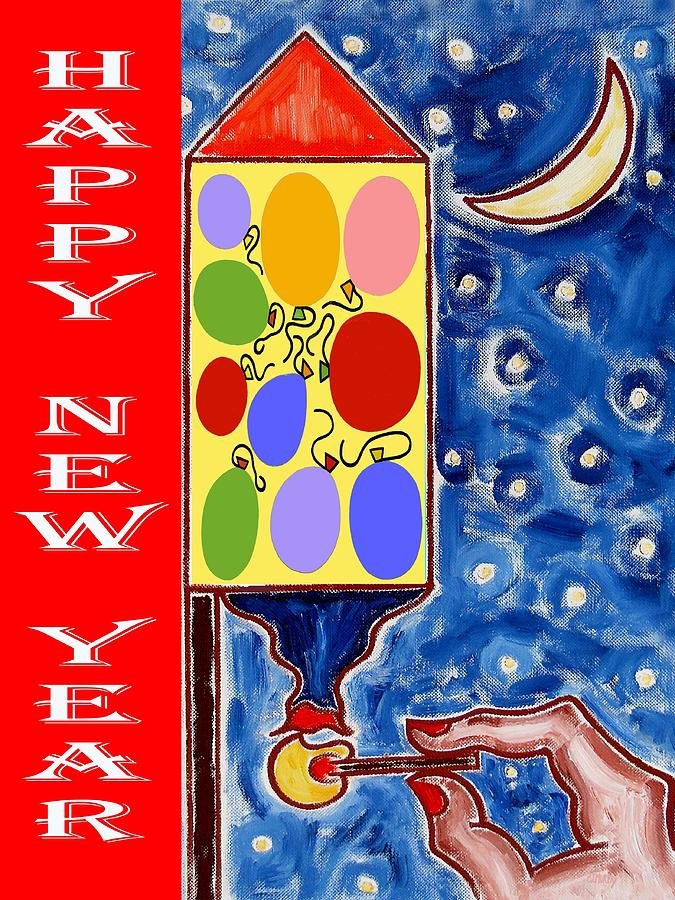 Christmas Painting - Happy New Year 47 by Patrick J Murphy