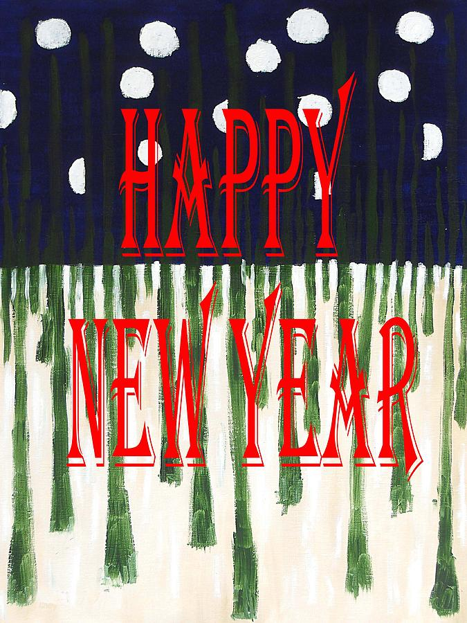 Christmas Painting - Happy New Year 92 by Patrick J Murphy