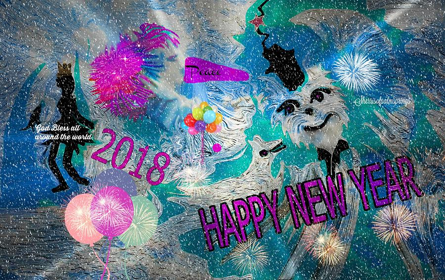 Fun Digital Art - Happy New Year  by Sherris - Of Palm Springs