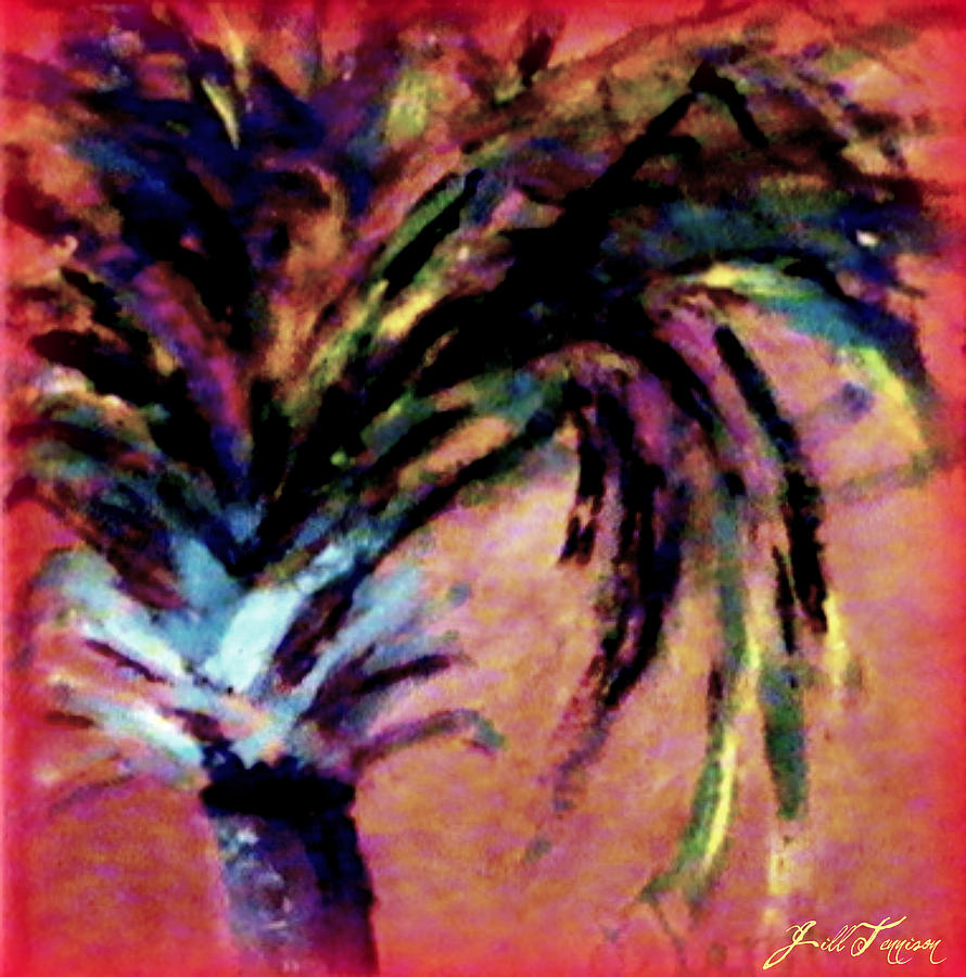 Palm Tree Photograph - Happy Palm by Jill Tennison