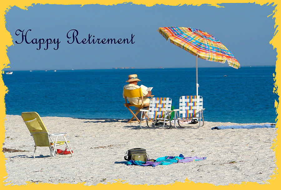 Happy Retirement Greeting Card Photograph by Carmen Del Valle