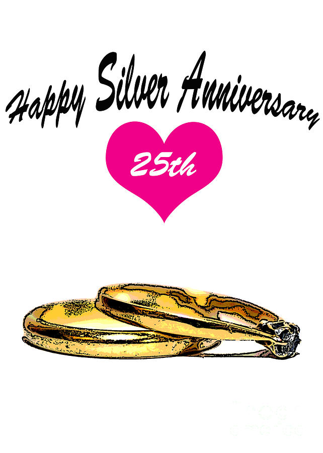 Happy Silver Anniversary Greeting Card Photograph