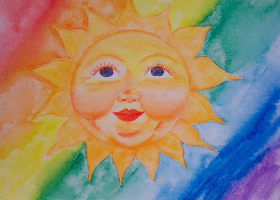 Sun Painting - Happy Sun by Jennifer Hernandez