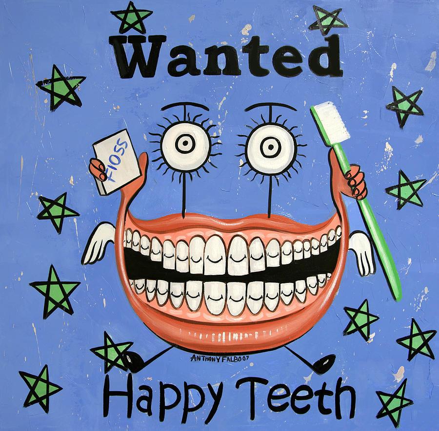 Happy Teeth Painting - Happy Teeth by Anthony Falbo
