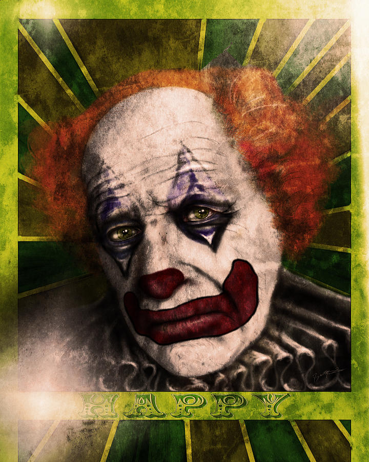 Happy The Clown Digital Art