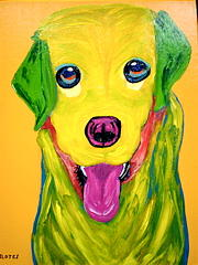 Pet Portraits Painting - Happy To Be Me by Suzanne Filotei