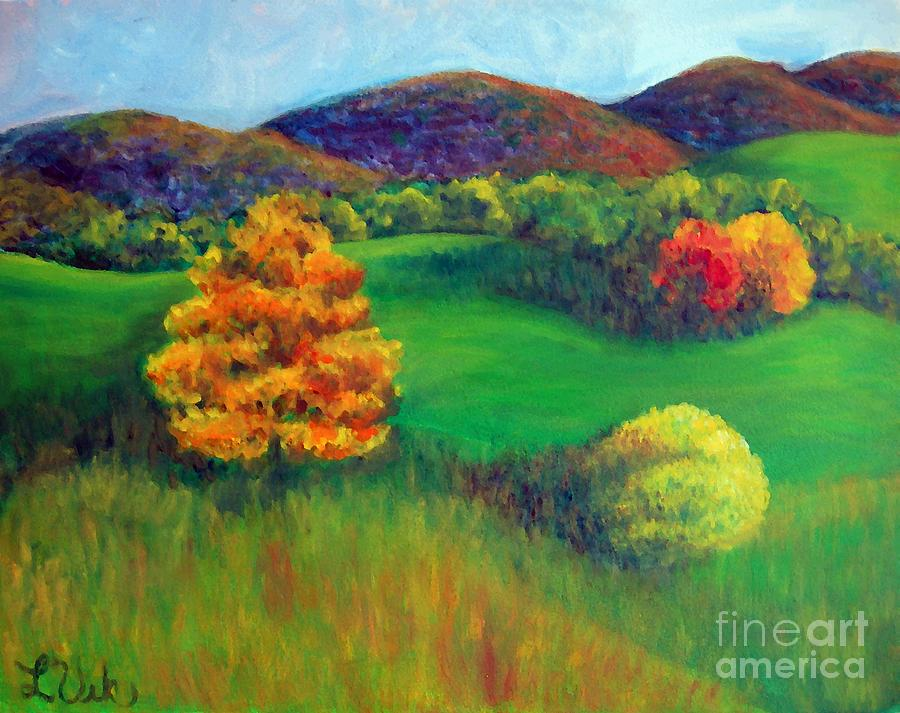 Autumn Painting - Happy Valley Hills by Lyn Vic