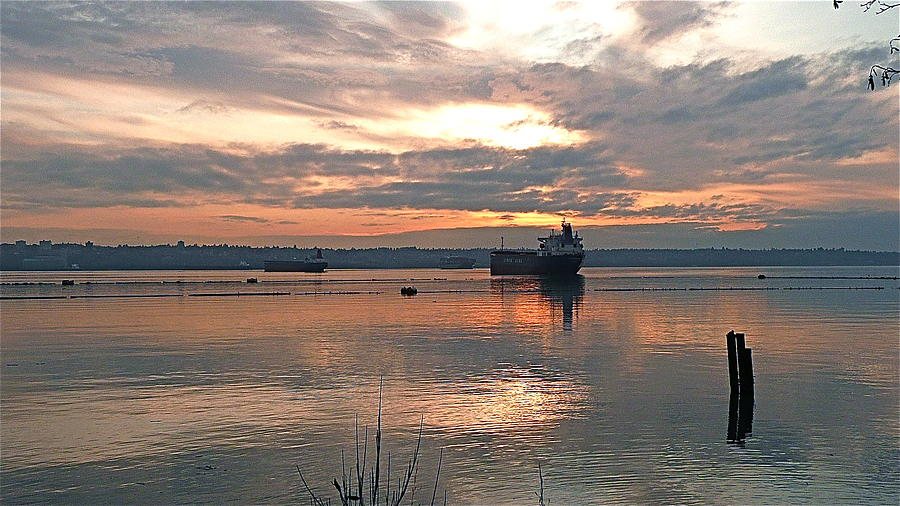 Harbor At Sunset Photograph