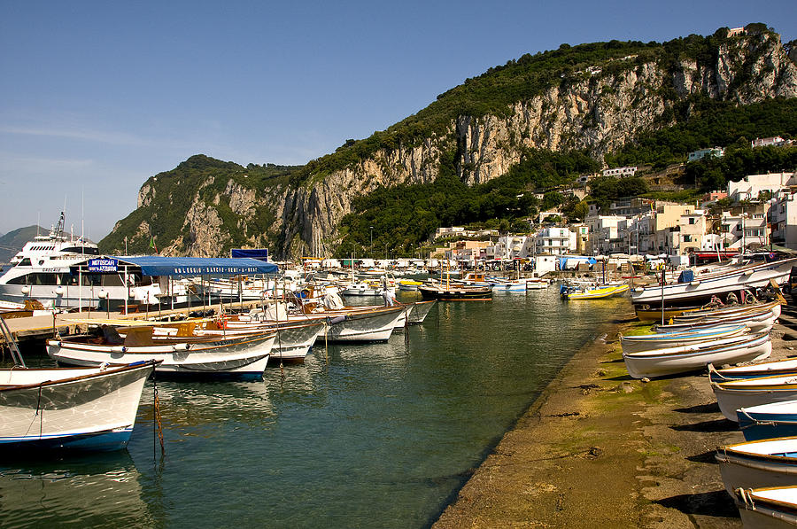 Harbor Capri Italy Photograph by Xavier Cardell