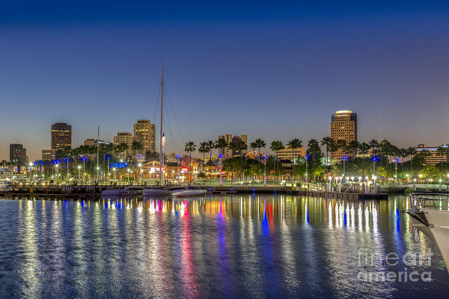 Long Beach Photograph - Harbor Lights  by David Zanzinger
