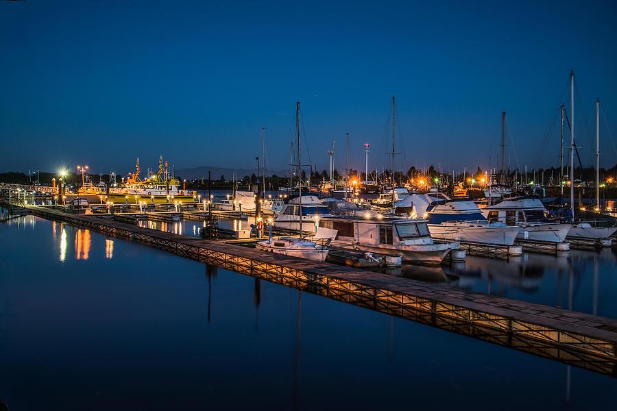 Warrenton Photograph - Harbor Lights by Joe Hudspeth