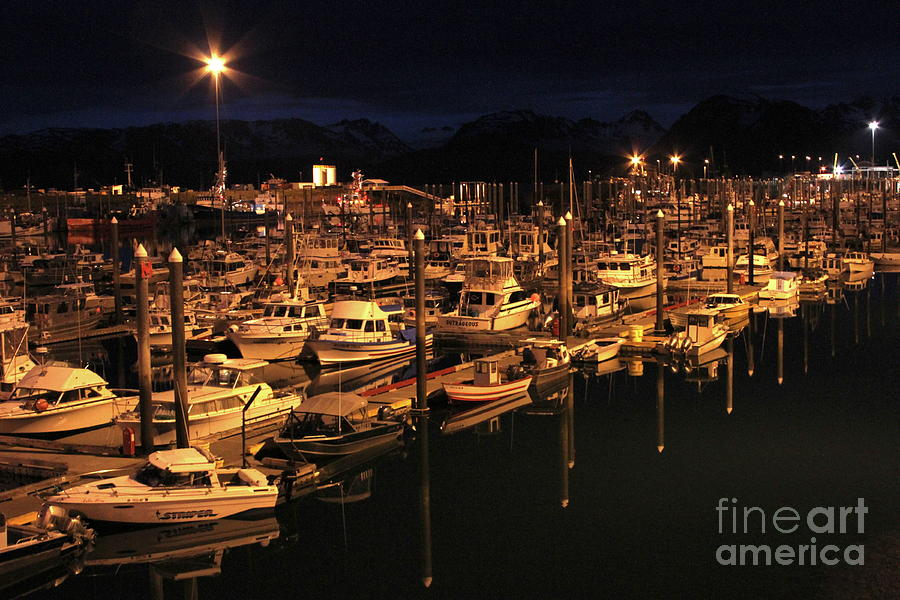 Harbor Photograph - Harbor Night by Rick  Monyahan