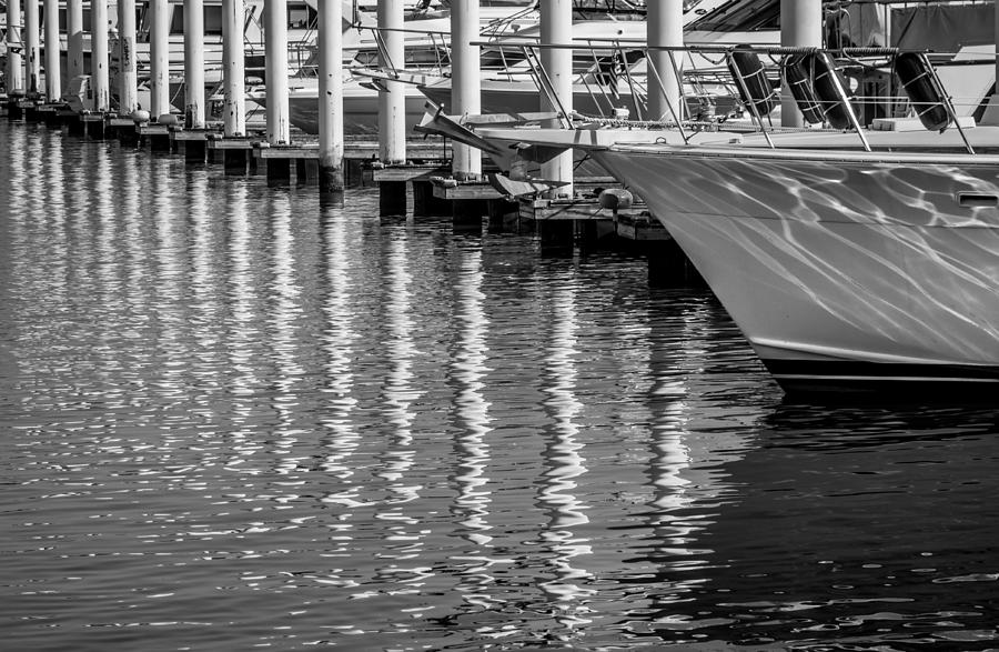 Marina Photograph - Harbor Reflections by James Woody