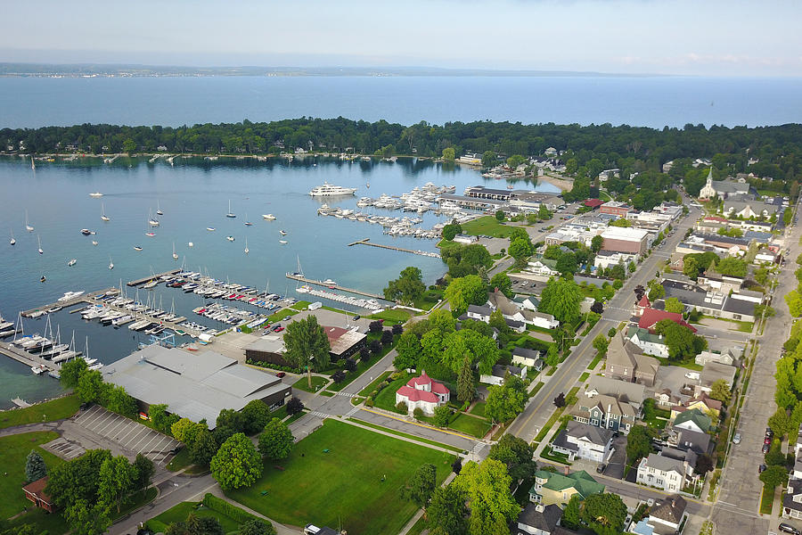 Harbor Springs Photograph - Harbor Springs From Above by Marcia Wolf