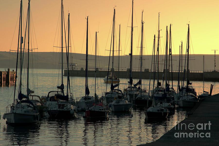Weymouth Photograph - Harbor Sunrise by Baggieoldboy