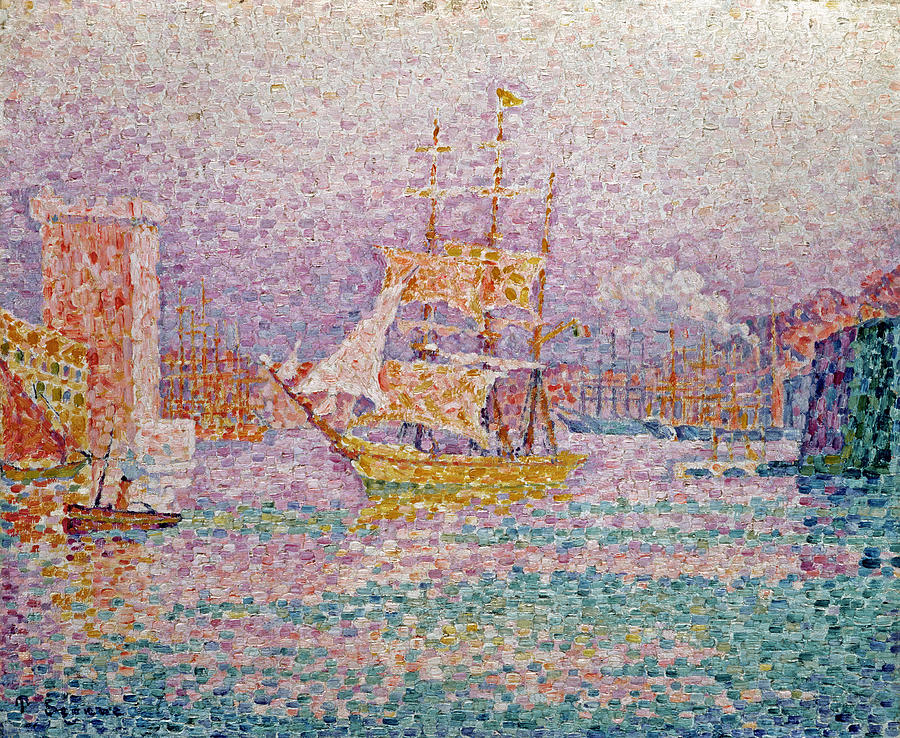 Signac Painting - Harbour At Marseilles by Paul Signac