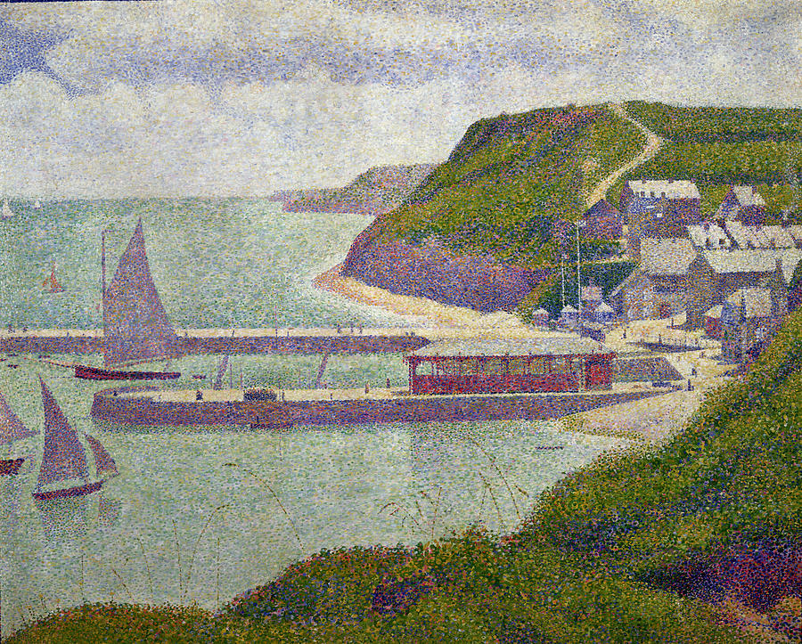 Seurat Painting - Harbour At Port En Bessin At High Tide by Georges Pierre Seurat