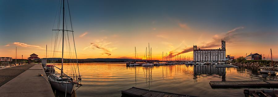 Harbour Photograph - Harbour At Sunset by Jeff S PhotoArt