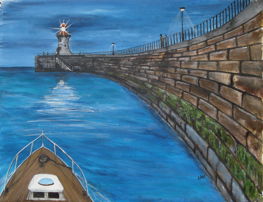 Harbour Painting - Harbour Light by Carol Williams