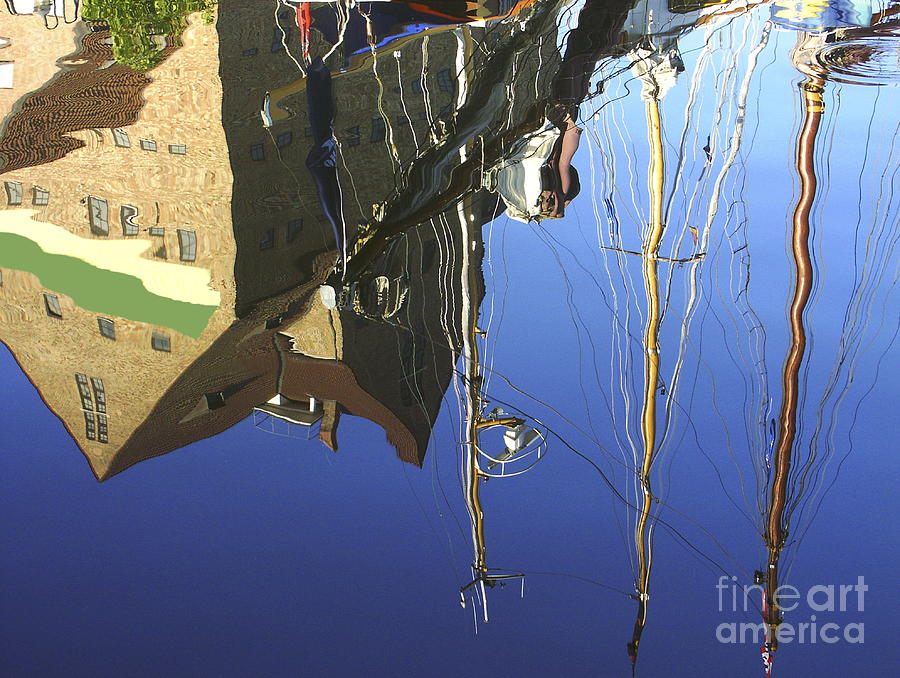 Harbor Photograph - Harbour Reflection by Sascha Meyer