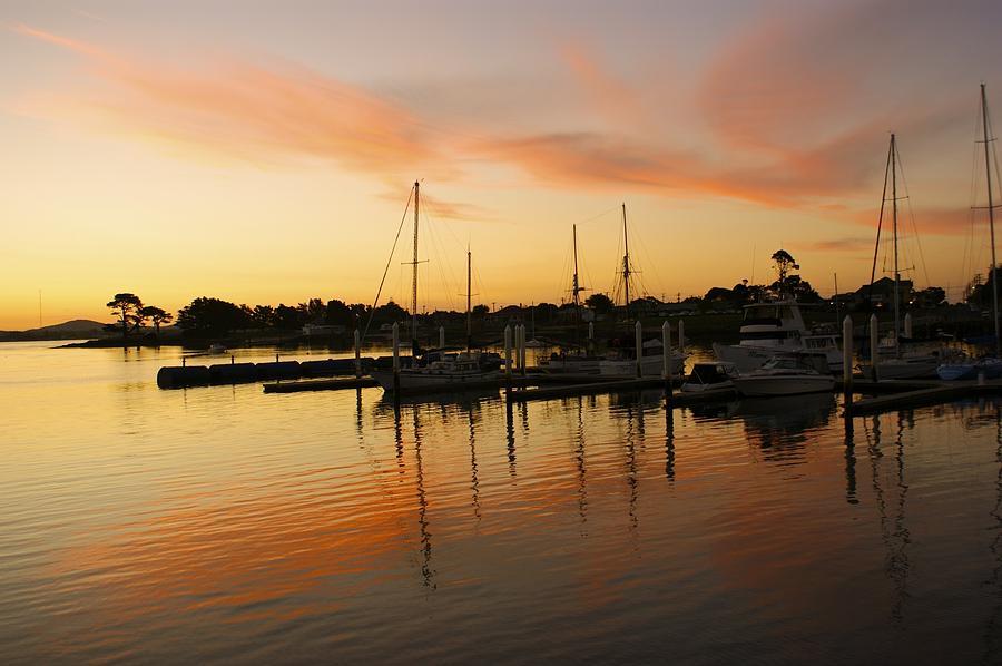 Sunset Photograph - Harbour Sun Set by Kathryn Potempski