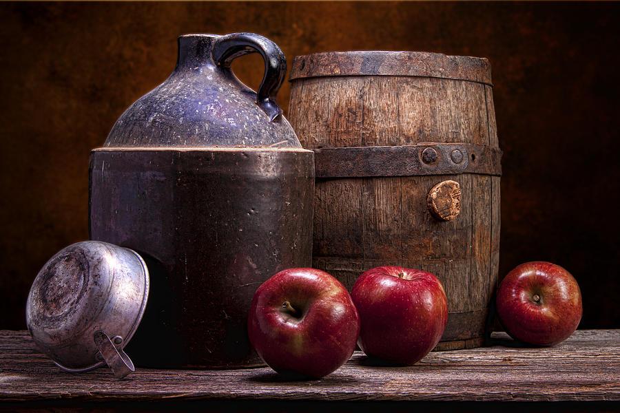 Aged Photograph - Hard Cider Still Life by Tom Mc Nemar