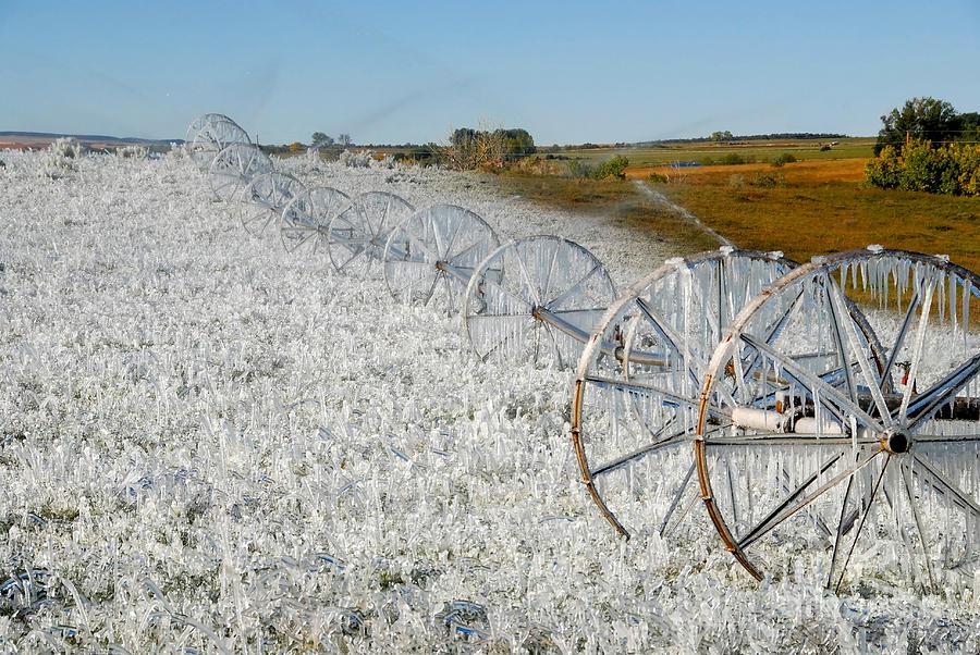Farm Photograph - Hard Land Farming by David Lee Thompson