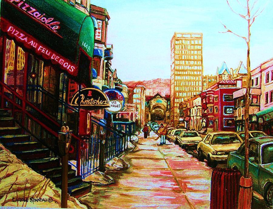 Hardrock Cafe Painting - Hard Rock Cafe  by Carole Spandau