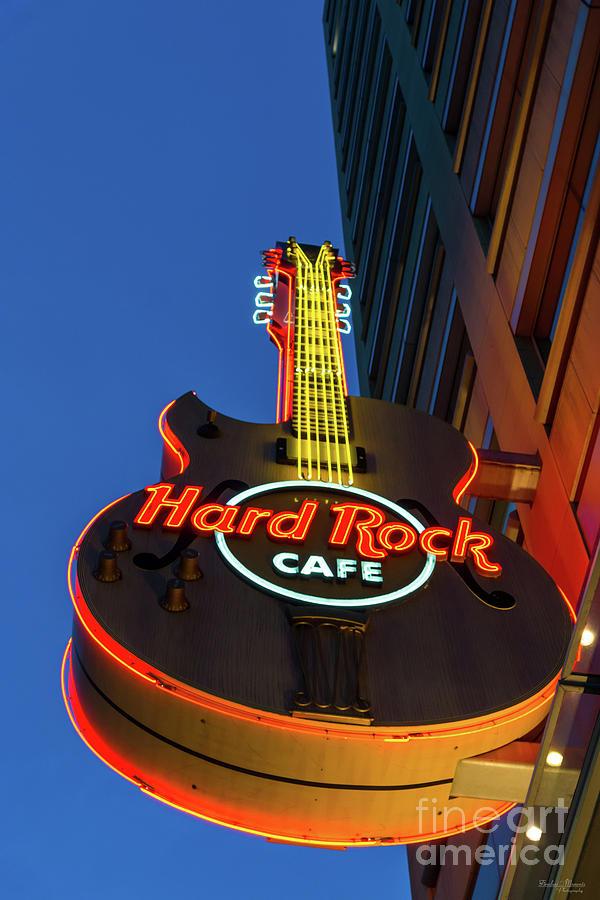 America Photograph - Hard Rock Guitar Detroit by Jennifer White