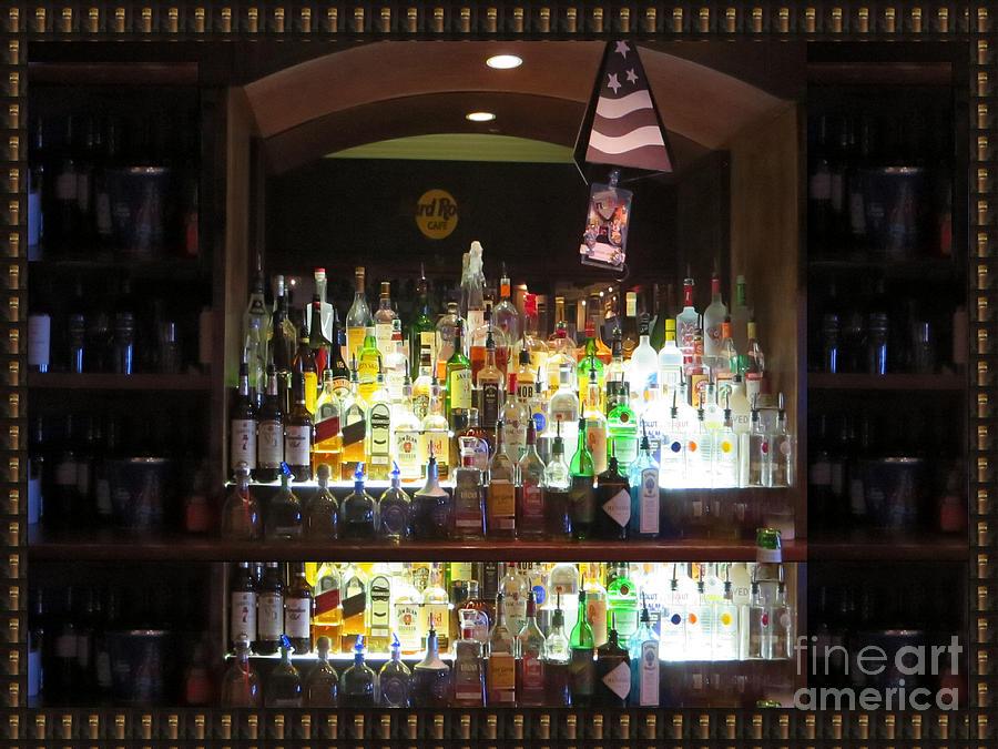 Hardrock Cafe Photograph - Hard Rock Hotel Bar Photography Atalantic Shore Beaches Boardwalk Hardrock Centre Photography By Nav by Navin Joshi