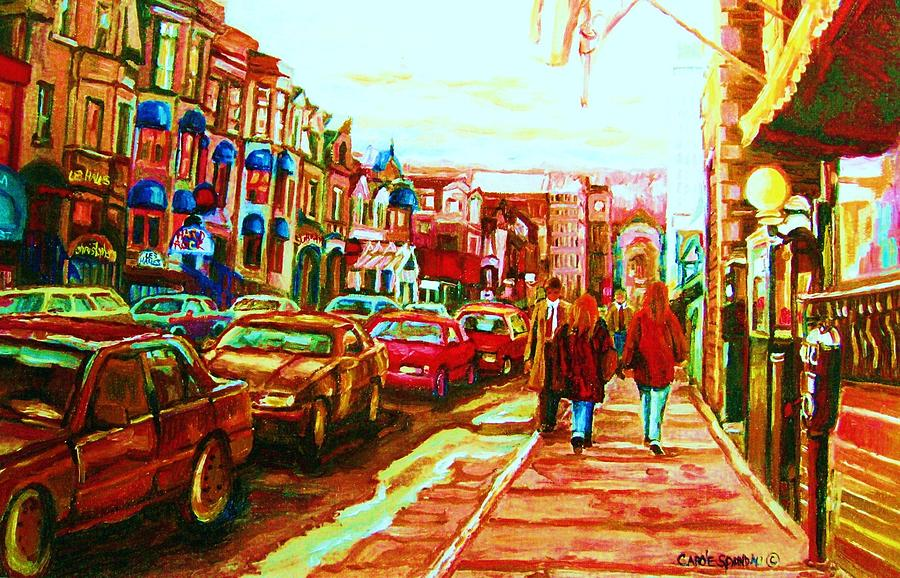 Crescent Street Painting - Hard Rock  On Crescent by Carole Spandau