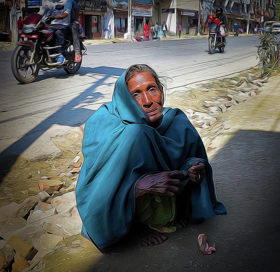 Kathmandu Photograph - Hard Times by David Melville