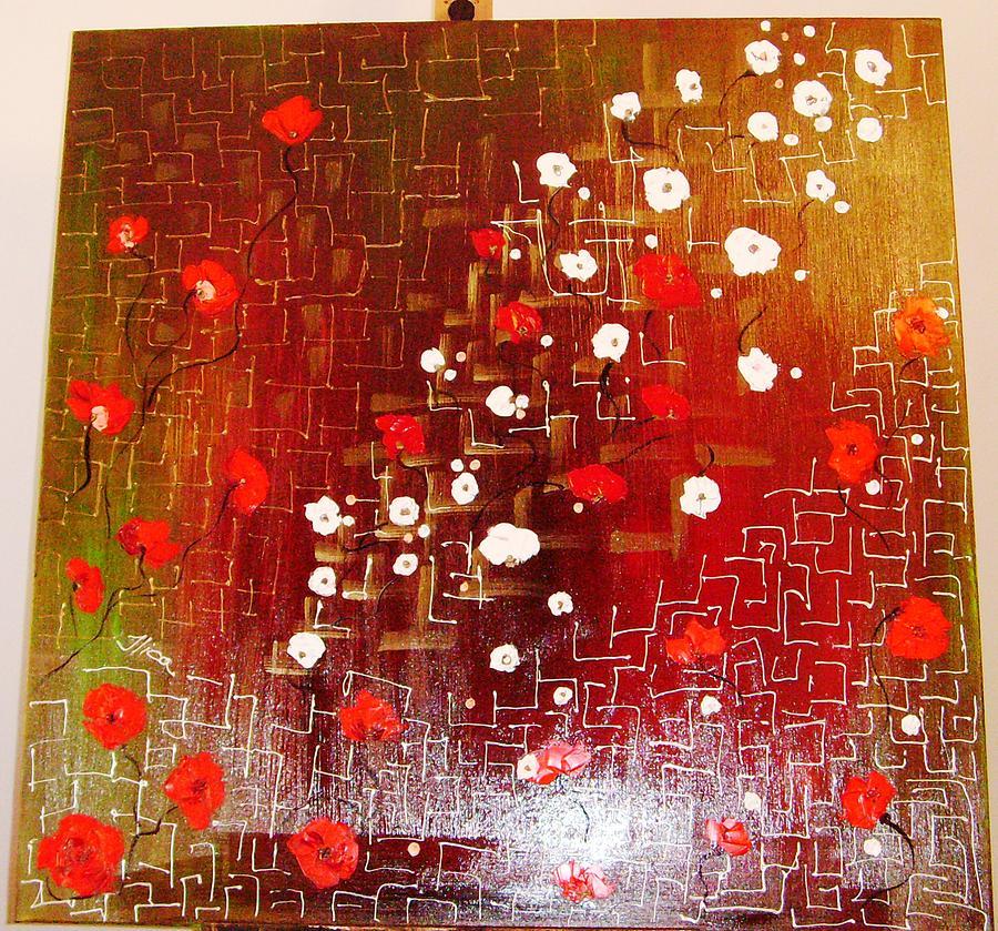 Poppy Painting - Hardened Moments by Ilica Ana maria