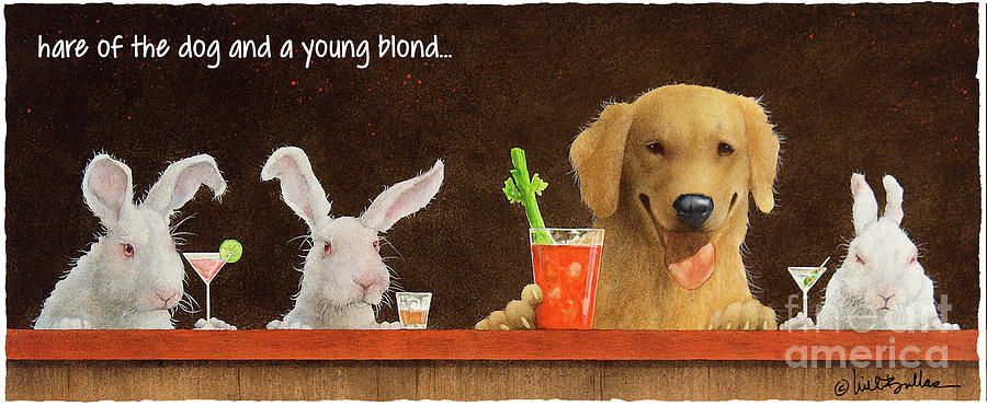 Will Bullas Painting - Hare Of The Dog And A Young Blond... by Will Bullas