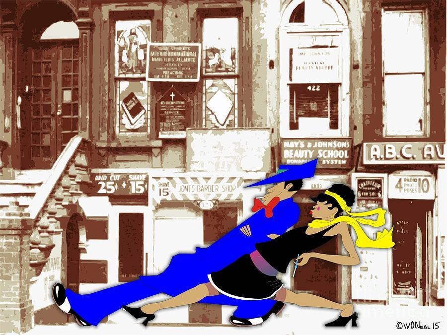 Harlem Digital Art - Harlem Strut by Walter Oliver Neal