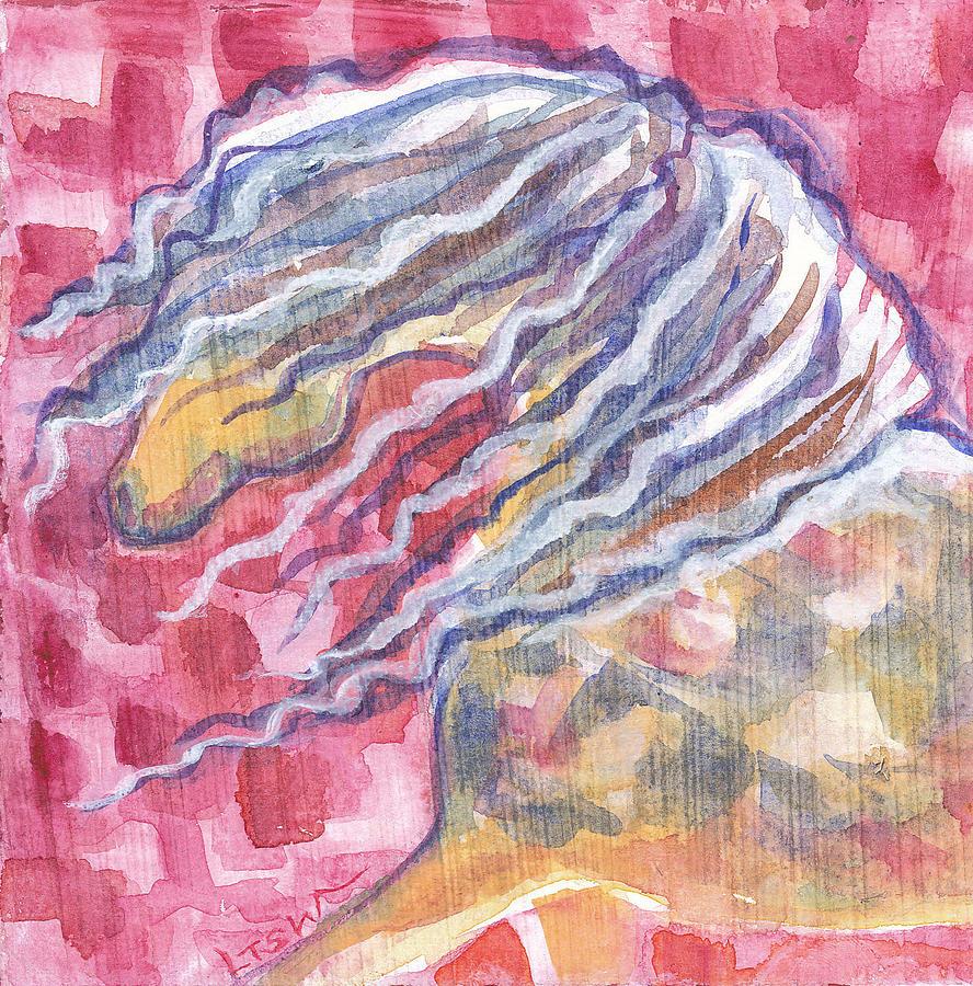 Horse Head Painting - Harlequin Horse II by Linda Kay Thomas
