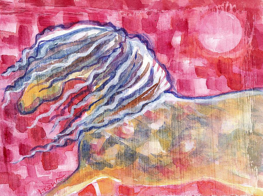 Horse Painting - Harlequin Horse by Linda Kay Thomas
