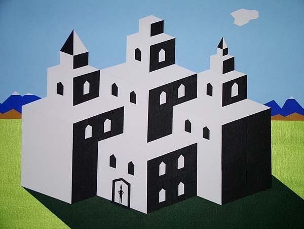 Harlequin Painting - Harlequins House by Leo  De Freyne