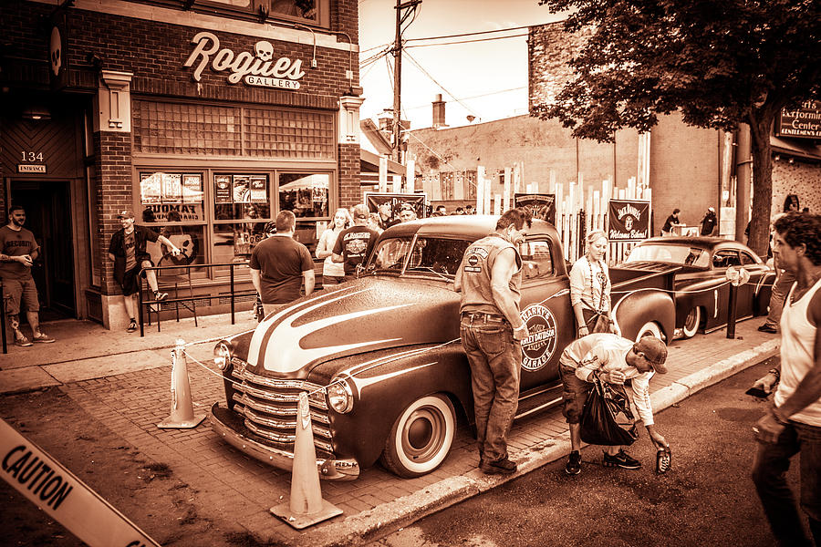 Harley Photograph - Harley 110 In Downtown Milwaukee by Vincent Buckley