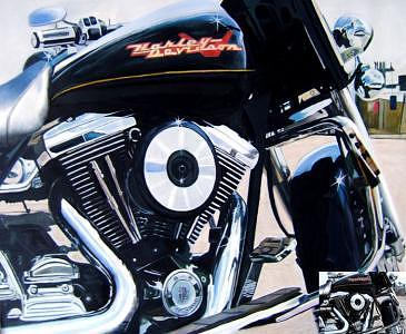 Oil Painting - Harley Davidson by Counterparts original