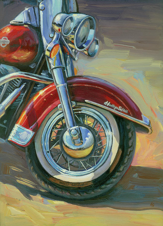 Harley-Davidson Heritage Softail by Lesley Spanos