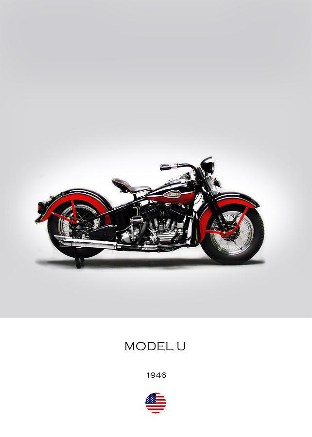 Harley Davidson Photograph - Harley Davidson Model U by Mark Rogan
