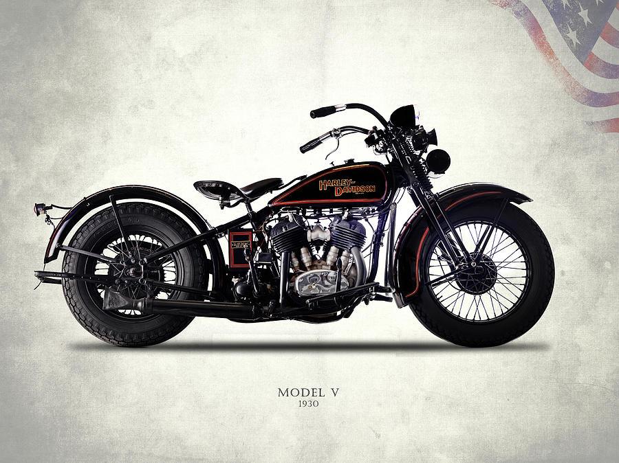 Harley-davidson Model V 1930 Photograph by Mark Rogan