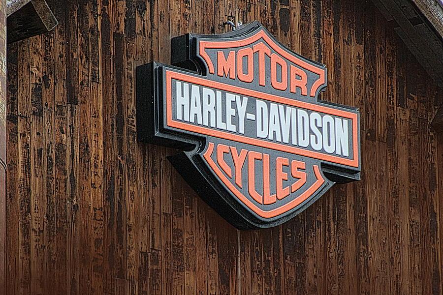 Harley Davidson Photograph - Harley Davidson Sign In West Jordan Utah Photograph by Colleen Cornelius