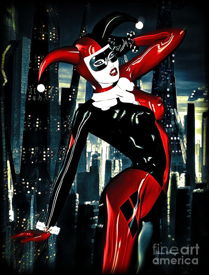 Harley Quinn Digital Art By Alicia Hollinger
