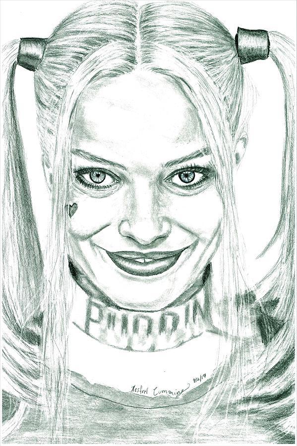 Harley Quinn Drawing: Harley Quinn Drawing Drawing By Kestrel Cumming