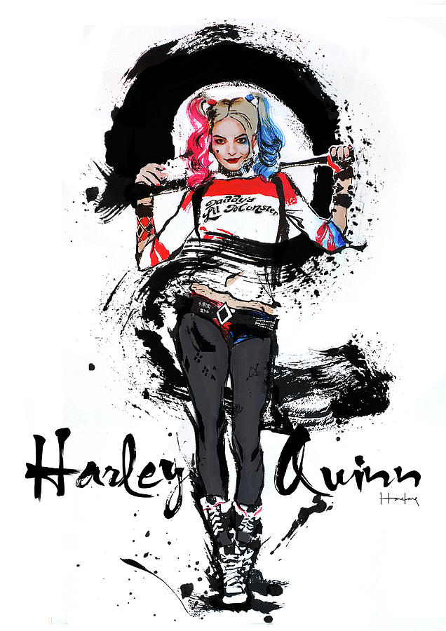 Harley Quinn Painting - Harley Quinn by Haze Long